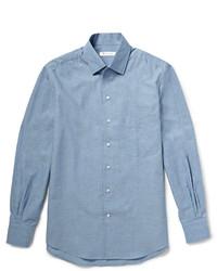 blaues Chambray Langarmhemd von Loro Piana
