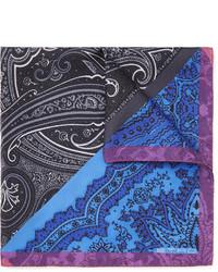 blaues Einstecktuch mit Paisley-Muster von Etro