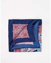blaues Einstecktuch mit Paisley-Muster von Ted Baker