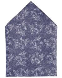 blaues Einstecktuch von Pierre Cardin