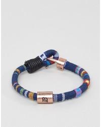 blaues geflochtenes Armband von Icon Brand