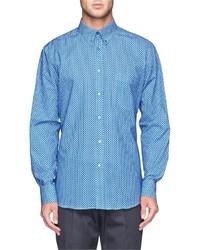 blaues gepunktetes Businesshemd