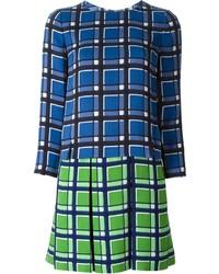 blaues gerade geschnittenes Kleid mit Schottenmuster von Marc by Marc Jacobs