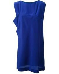 blaues gerade geschnittenes Kleid
