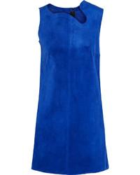 blaues gerade geschnittenes Kleid von Victoria Beckham