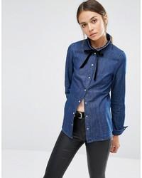 blaues Hemd von Vero Moda