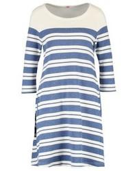 Blaues horizontal gestreiftes Schwingendes Kleid von Armor Lux