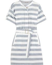 blaues horizontal gestreiftes Shirtkleid von Burberry