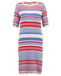 blaues horizontal gestreiftes Sweatkleid von mint&berry