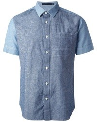 blaues Jeans Kurzarmhemd