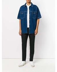 blaues Jeans Kurzarmhemd von AMI Alexandre Mattiussi