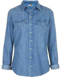 blaues Jeanshemd
