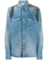 blaues Jeanshemd von Alexander McQueen