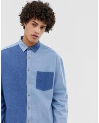 blaues Jeanshemd von ASOS DESIGN