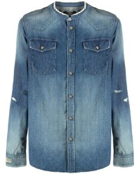 blaues Jeanshemd von Balmain