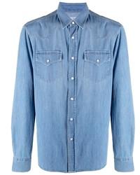 blaues Jeanshemd von Brunello Cucinelli