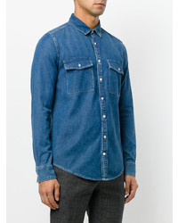 blaues Jeanshemd von MSGM