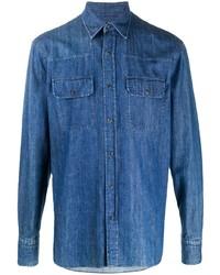 blaues Jeanshemd von Ermenegildo Zegna