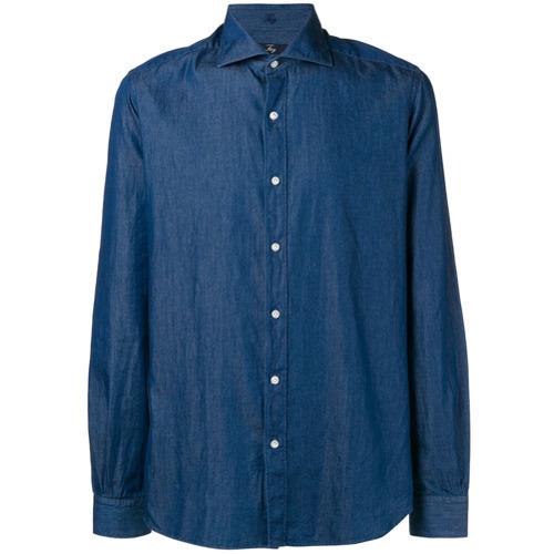 blaues Jeanshemd von Fay