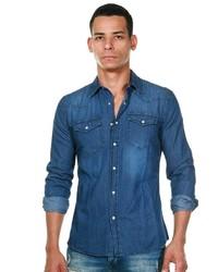 blaues Jeanshemd von FIOCEO