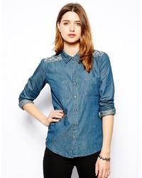 blaues Jeanshemd von Glamorous