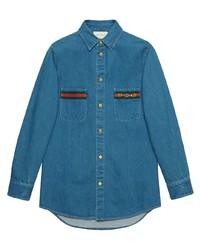 blaues Jeanshemd von Gucci