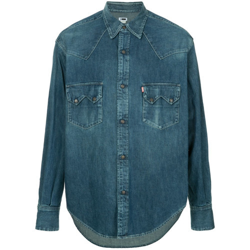 blaues Jeanshemd von H Beauty&Youth