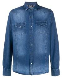 blaues Jeanshemd von Karl Lagerfeld