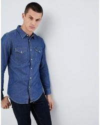 blaues Jeanshemd von Lee