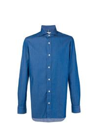 blaues Jeanshemd von Luigi Borrelli
