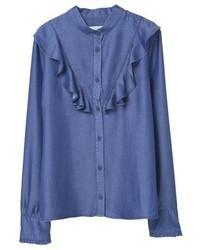 Blaues Jeanshemd von Mango
