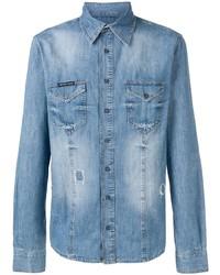 blaues Jeanshemd von Philipp Plein