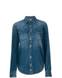 blaues Jeanshemd von Saint Laurent