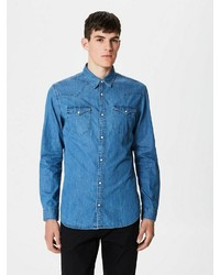 blaues Jeanshemd von Selected Homme