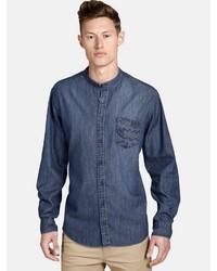 blaues Jeanshemd von SHIRTMASTER