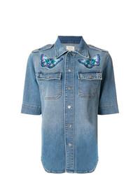 blaues Jeanshemd von Zadig & Voltaire