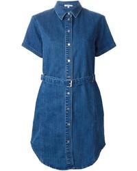 blaues Jeansshirtkleid