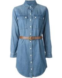 blaues Jeansshirtkleid von Michael Kors