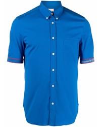 blaues Kurzarmhemd von Alexander McQueen