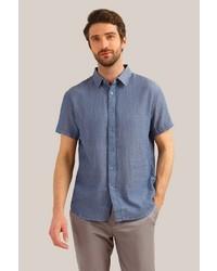 blaues Kurzarmhemd von FiNN FLARE