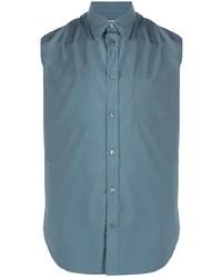 blaues Kurzarmhemd von Maison Margiela