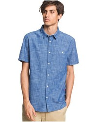 blaues Kurzarmhemd von Quiksilver