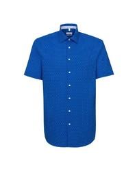 blaues Kurzarmhemd von Seidensticker