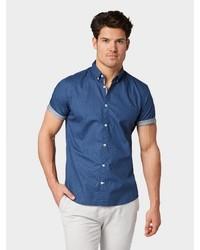 blaues Kurzarmhemd von Tom Tailor