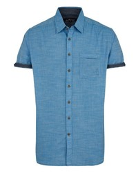 blaues Kurzarmhemd von Via Cortesa