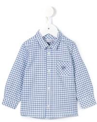 blaues Langarmhemd mit Vichy-Muster von Tartine et Chocolat