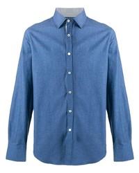 blaues Langarmhemd von Canali