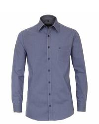 blaues Langarmhemd von Casamoda