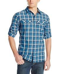 blaues Langarmhemd von Columbia