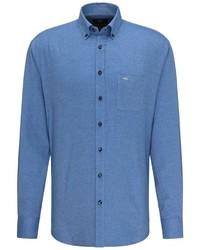 blaues Langarmhemd von Fynch Hatton